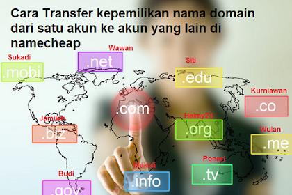 Cara transfer domain keakun namecheap