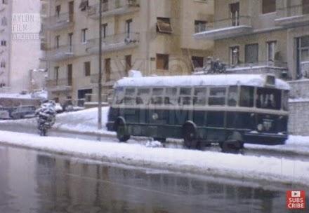 Η Αθήνα στα χιόνια 1968. Βουβό φιλμ 8mm