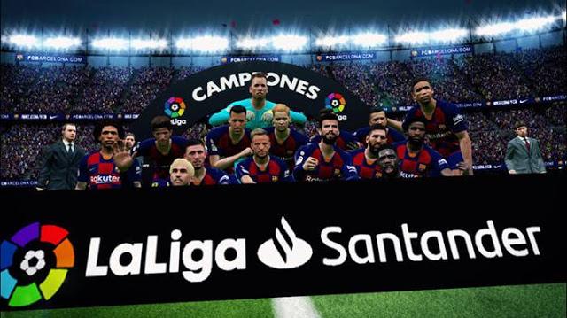 PES 2017 New Gate & Winner Platform Laliga Santander