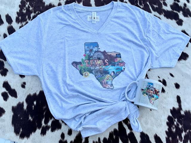 Texas collage tee by GypsyFarmGirl