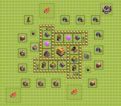Base Clash of Clans Town Hall 5
