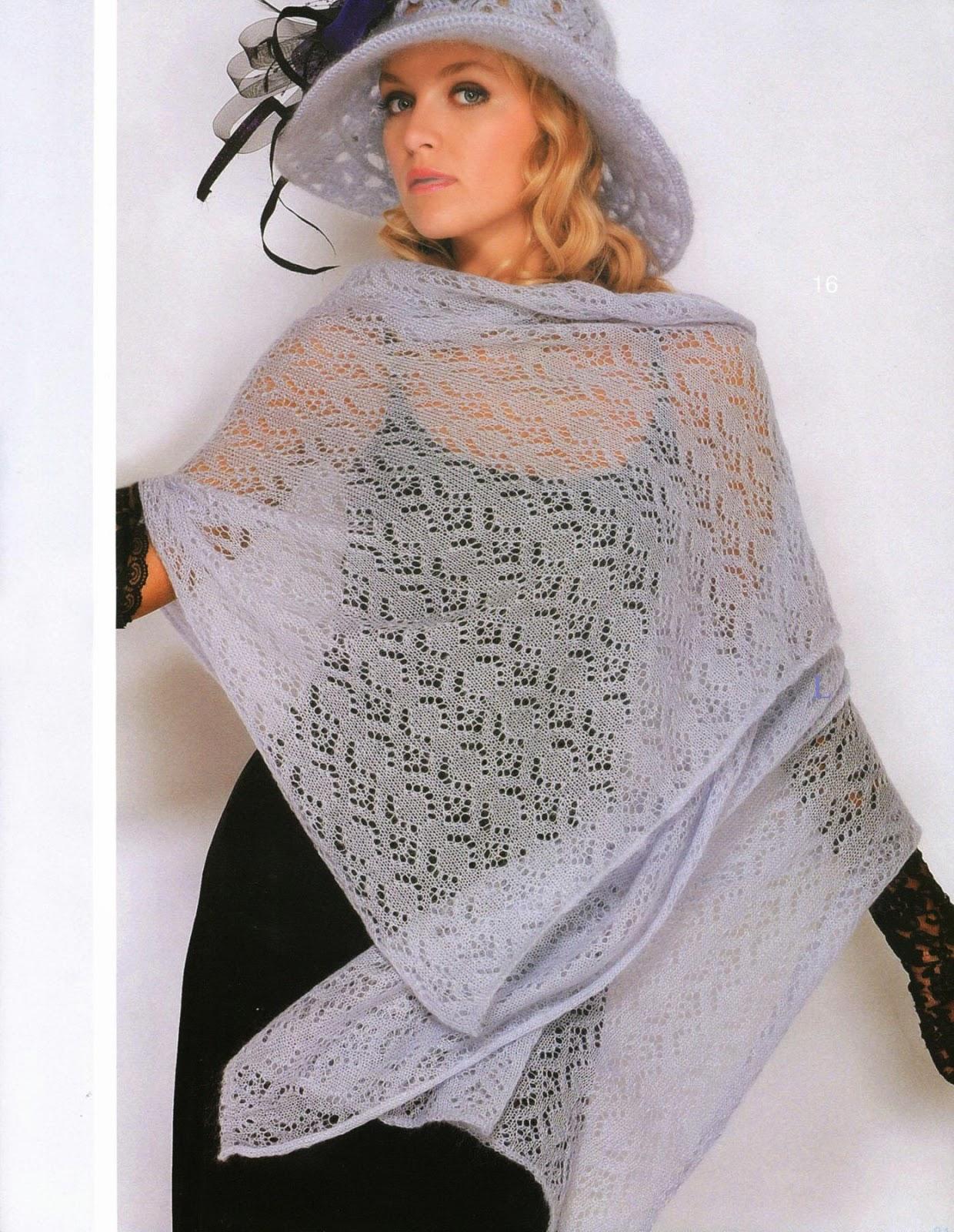 Irina: Lace Knitting. Mohair Shawl. Patterns.