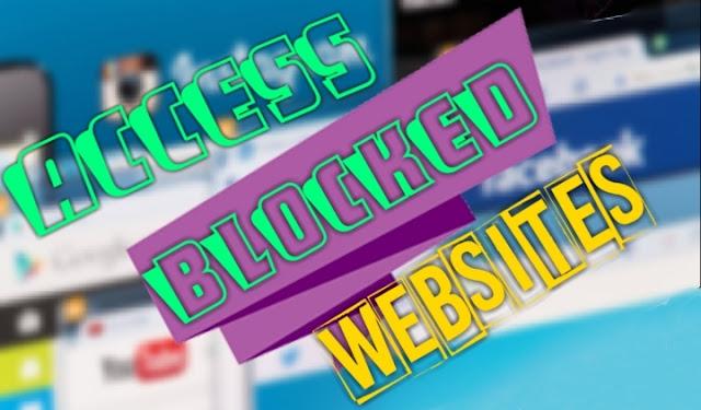 Open blocked website
