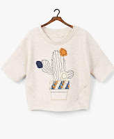 Beige Girls Embossed Design Sweatshirt