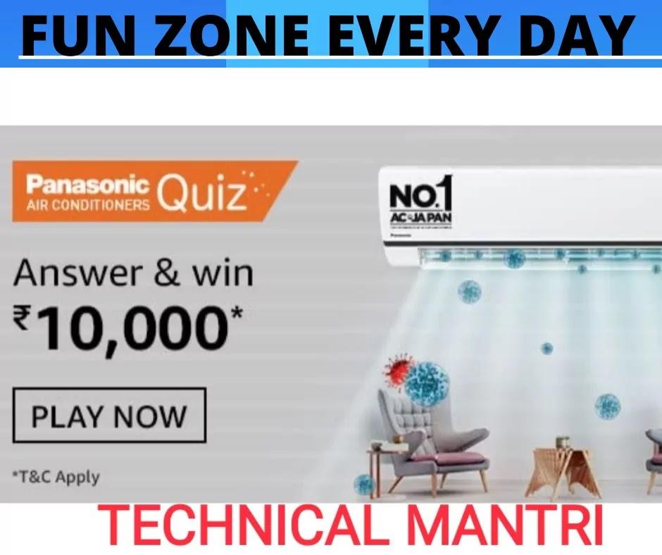Panasonic Air Conditioners Amazon Quiz Answer