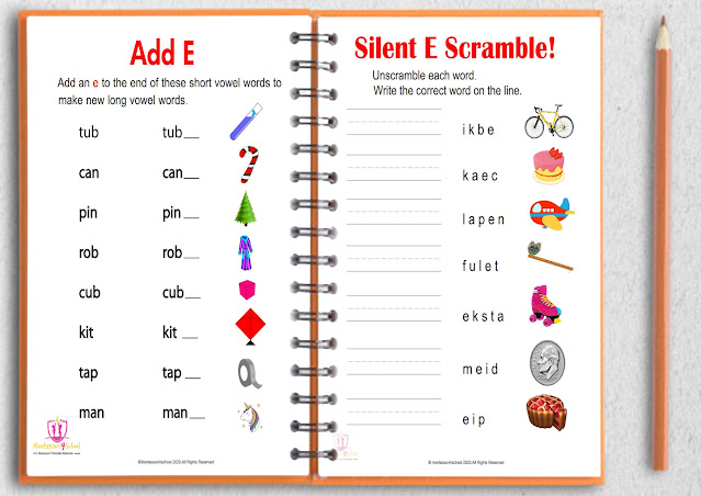 Silent e worksheet