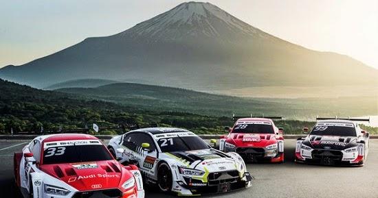 "Vier Audi RS 5 DTM beim ""Dream Race"" in Japan"