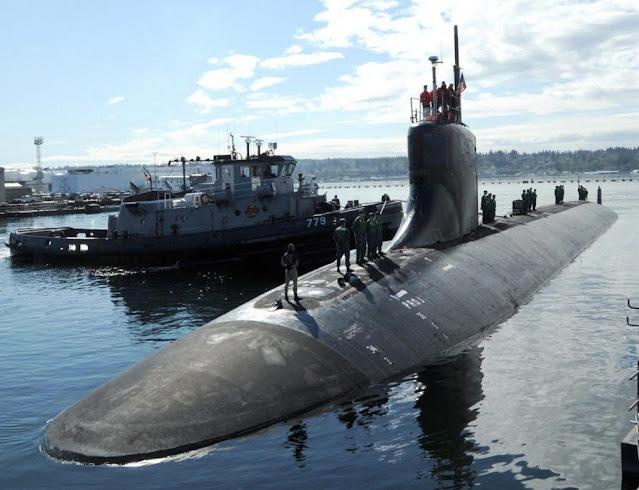 El submarino de ataque USS Connecticut sufre una colisión en inmersion en el Mar de China Meridional