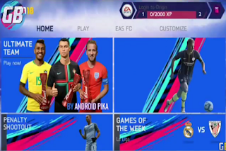Download FIFA 14 Mod FIFA 19 v7 Apk Data Obb for Android