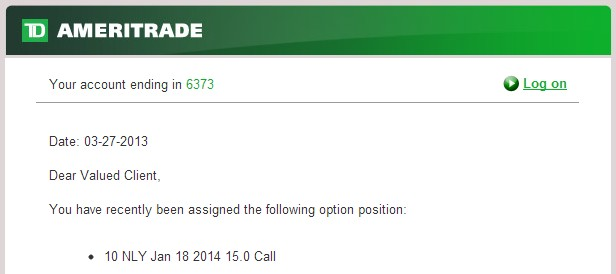 Option trading assignment