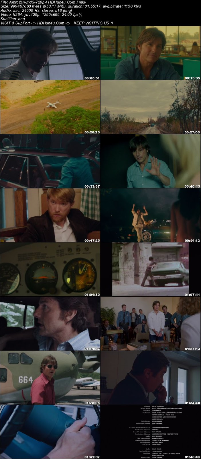 American Made 2017 300MB English 480p WEB-DL ESub Download