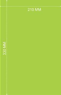 Ukuran Kertas F4 Dalam Berbagai ukuran Satuan
