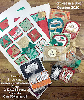 Retreat in a Box!  Sign up by October 18, 2020!  #StampinUp #StampTherapist