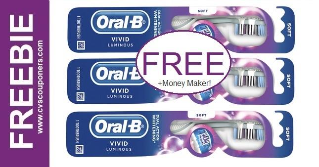 FREE Oral-B Vivid Luminous Toothbrushes at CVS 2/7-2/13