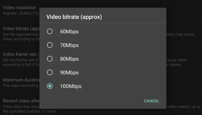 معدل نقل بيانات فيلم android