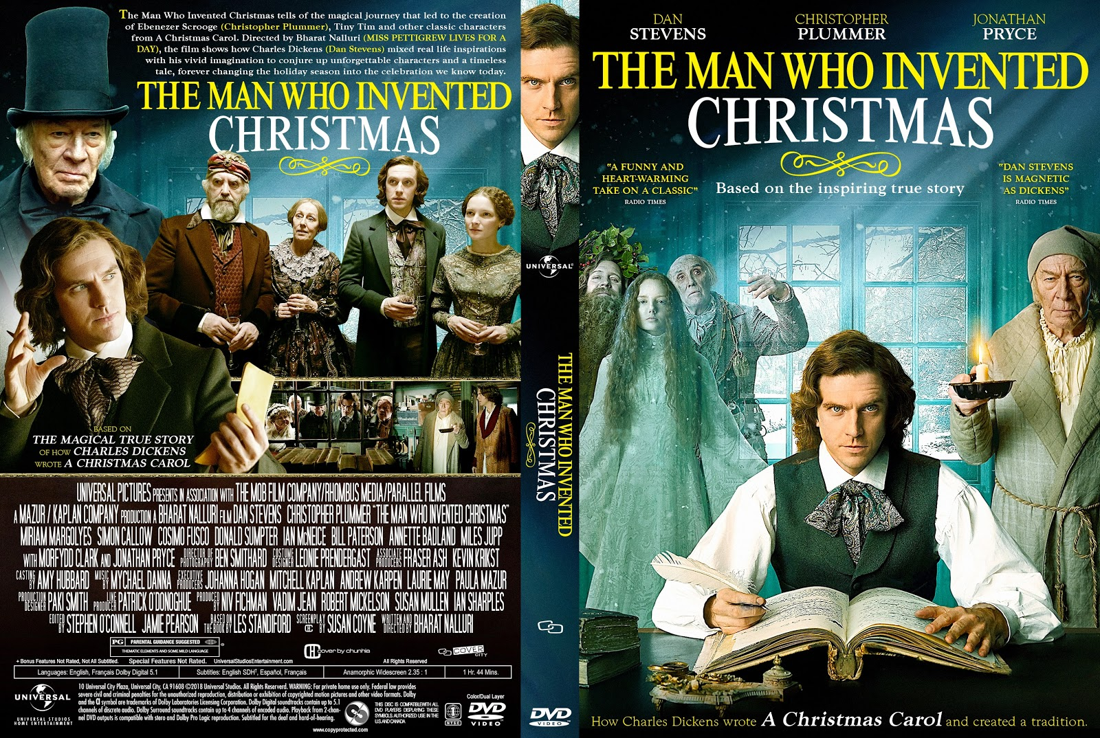 The Man Who Invented Christmas Poster.The Man Who Invented Christmas Dvd Cover Cover Addict