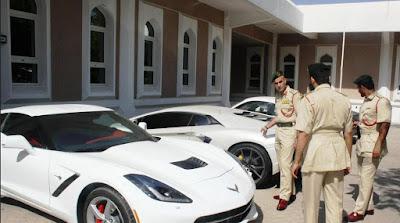 Dubai police on duty