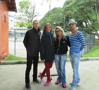 Secretário de Cultura Elias Martins com as professoras Carolina Cox e Hebe Otto e o coreógrafo Toni Couto: homenagem ao Dia da Dança