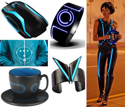 accesorios al estilo Tron Legacy en la vida real.