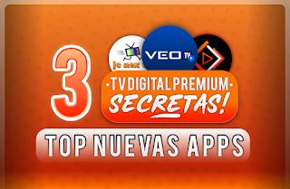 TOP 3 MEJORES apps Para VER TV DIGITAL HD ANDROID 2020