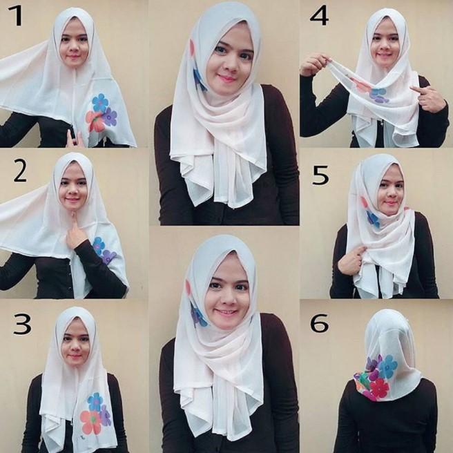 Tutorial Jilbab Segi Empat Terbaru Hijab Converse