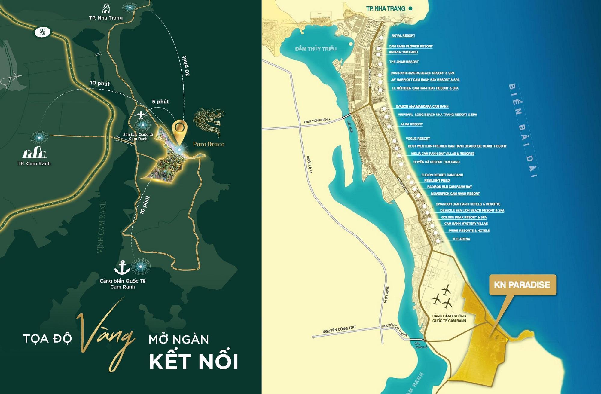 Vị trí KN Paradise Cam Ranh