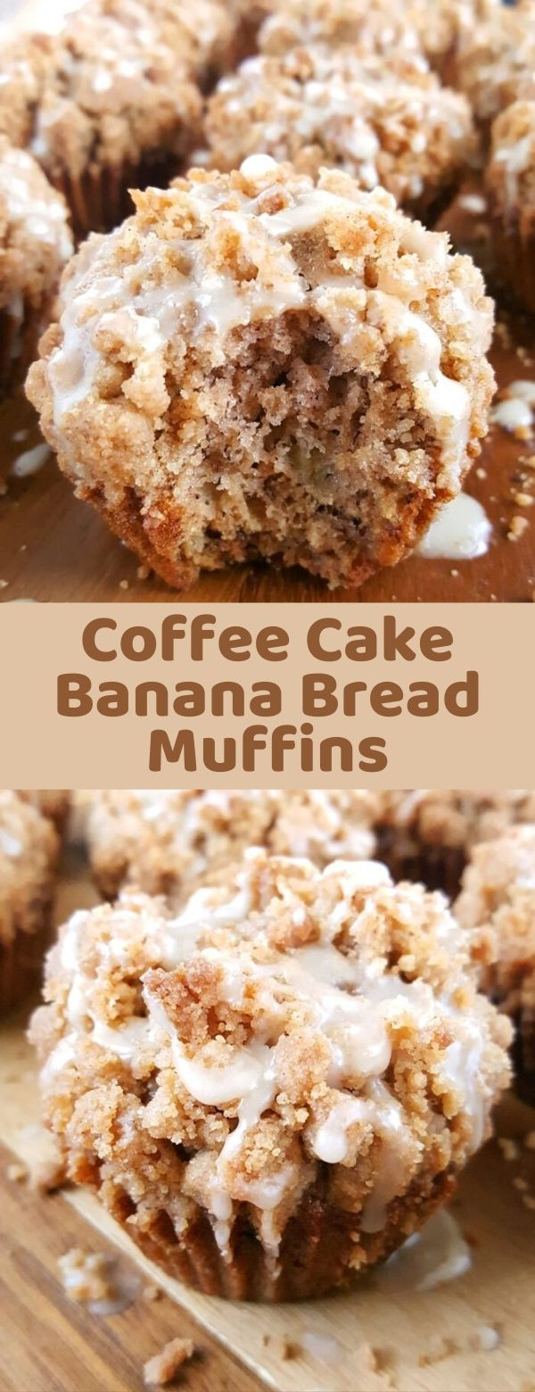 Coffee Cake Banana Bread Muffins