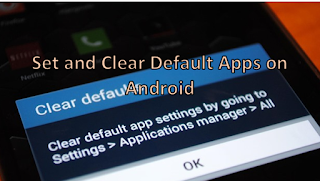 How to changing default apps on android