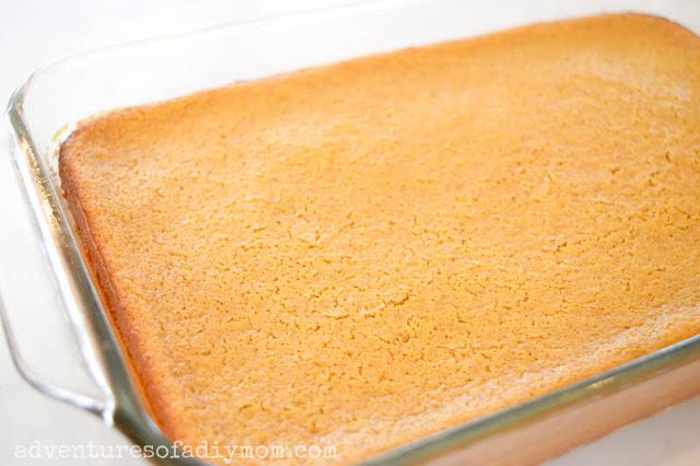baked pumpkin gooey butter cake