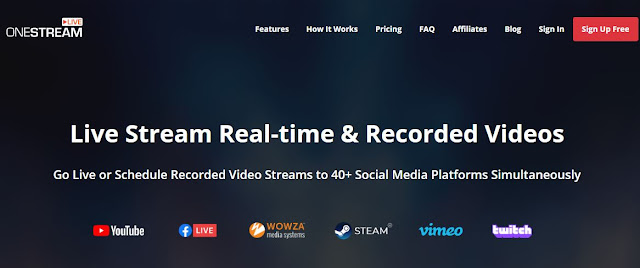 بث مباشر على صفحة فيسبوك أو يوتوب من خلال onestream Onestream