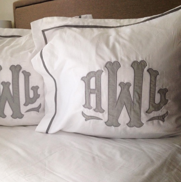 Applique Monogrammed Shams