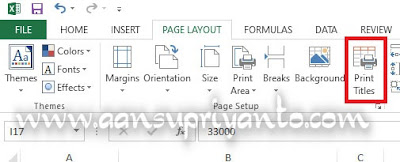 Rows to Repeat at Top, Manfaatkan untuk Membuat Header yang Sama Setiap Page