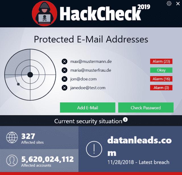 Screenshot Abelssoft HackCheck 2020 v2.0.52 Full Version