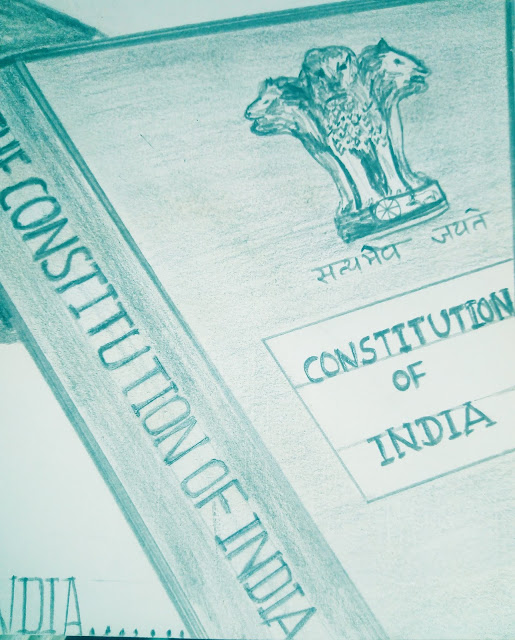 Drawing image of indian Constitution book