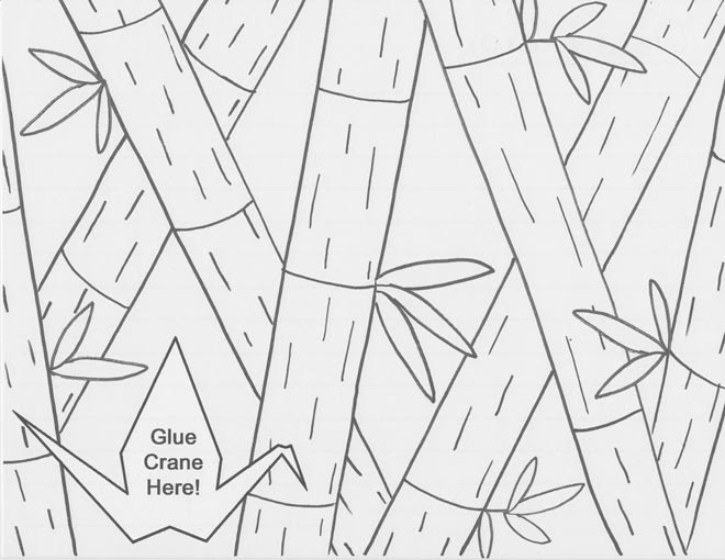 Cranes of Thanks: New coloring pages!