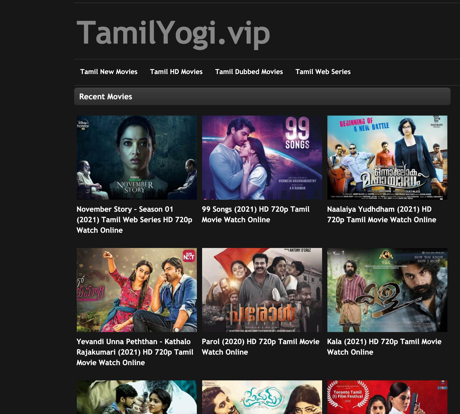 Tamilyogi. com new site