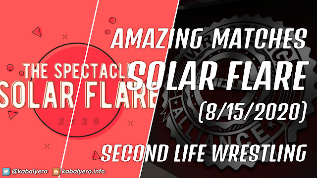 RWA SOLAR FLARE 2020 Happens Today! SECOND LIFE WRESTLING