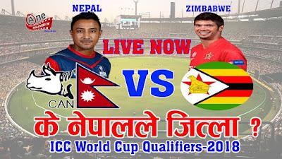 || Nepal VS Zimbawae || Live Video || 1
