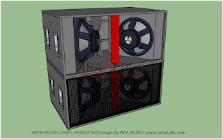 Skema Box APEX PX2181 horn reflex subwoofer 18 inch