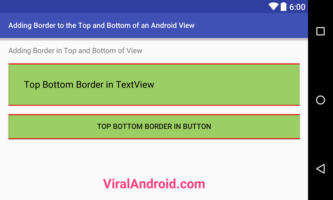 Adding Border to the Top and Bottom of an Android View
