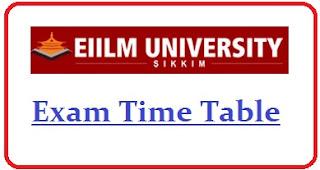 EIILM University Exam Date Sheet 2020