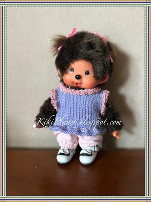 kiki monchhichi doll poupée débardeur knitting tricot handmade fait main vêtement