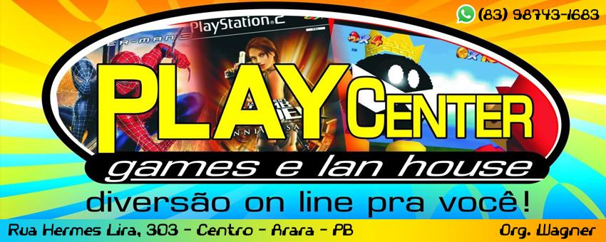PLAY CENTER - ARARA- PB / FONE: (83) 987431683 - ORG. WAGNER