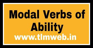 Modal Verbs of Ability