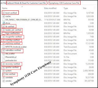 symphony i120 flash file without password All Version HW1_V2 _HW2_V8