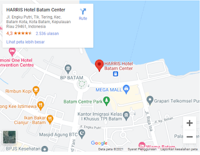 hotel yang ada di kota batam center