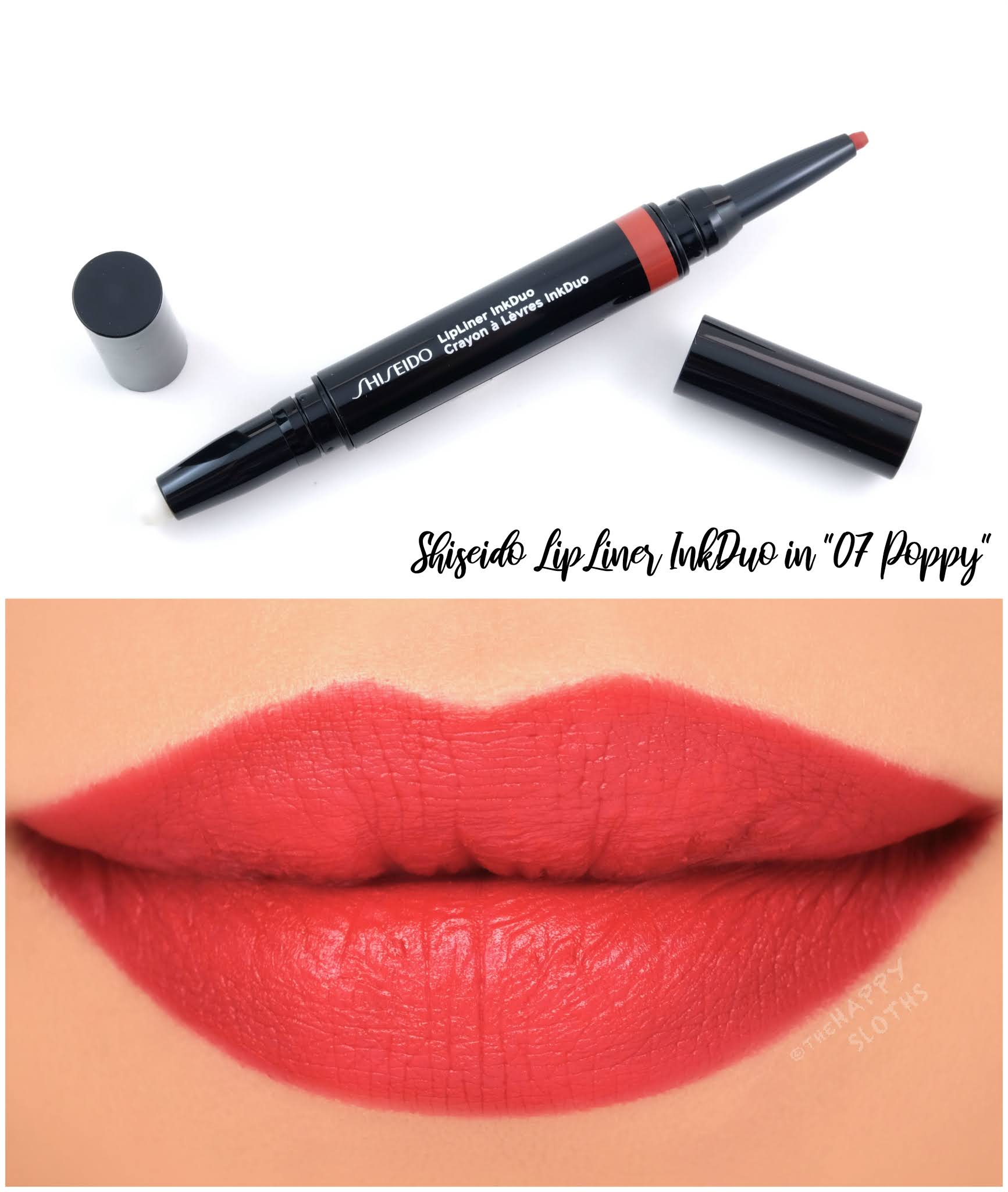 "Shiseido | LipLiner InkDuo in ""07 Poppy"": Review and Swatches"