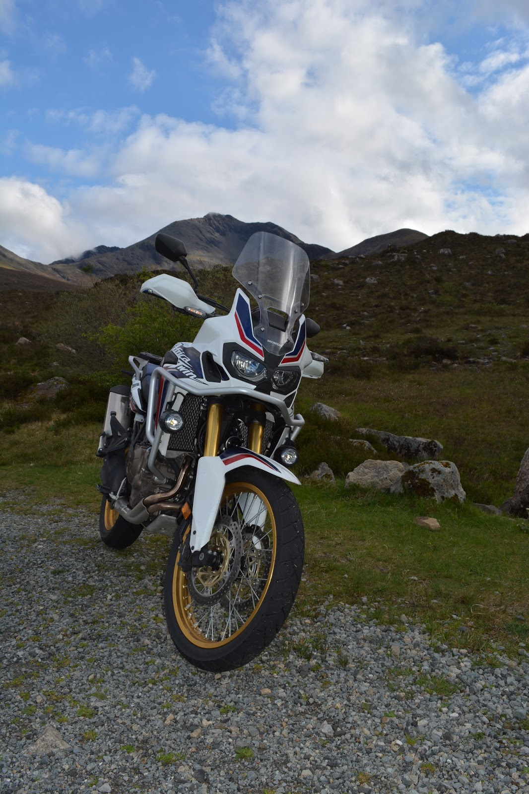 European Motorcycle Diaries August 2016 Two Brothers Ducati Monster 696 Black Series Dual Slip On Exhaust Systems Honda Crf1000l Africa Twin In The Wild