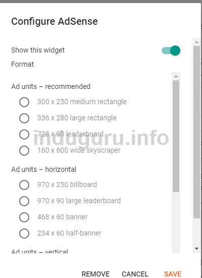 Removable Blogger Gadget