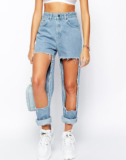 Asos destroyed jeans